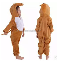 China Supply jumpsuit kids Animal party Halloween costume brown horse costumes for kids