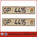 serial number plate european size license plate