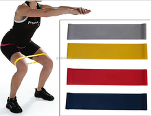 2016 Hot Rubber Latex Fitness Custom printed Resistance Exercise Band Resistance loop Band set