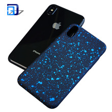 Newest design low price ultra thin pc phone case starry matte cell phone case for iphone x