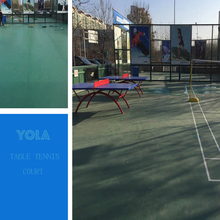 Environmental anti-slip outdoor pvc colorful sport floor for table tennis with best price