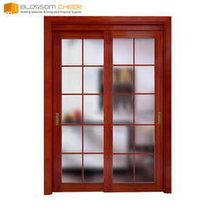 Personal customize plywood made japanese sliding door grill design for kitchen entrance