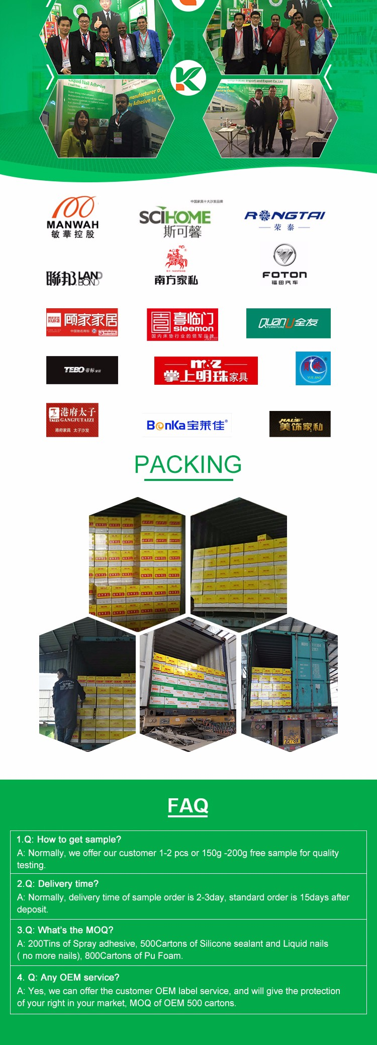 All purpose spray adhesive glue for decorative sheet, panel, plate, aluminium-plastic panel, sheet