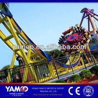 Yamoo indoor amusement park games carnival thrill rides flying UFO/ amusement rides for sale