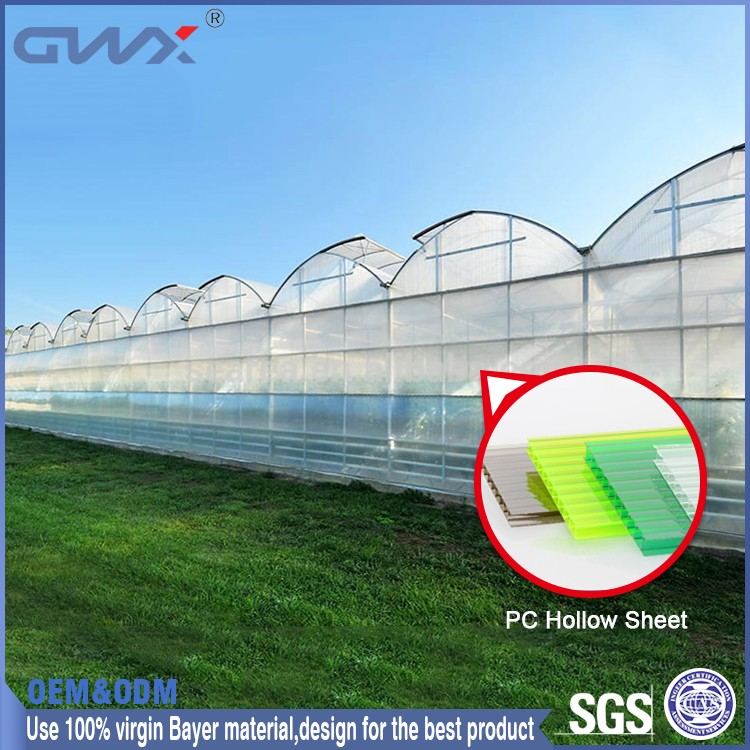 Fine light transmission green house roofing material Polycarbonate sun sheet