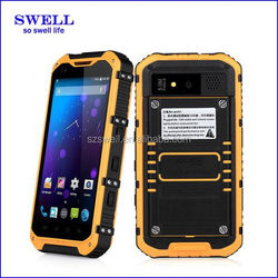 4.3inch mobile Waterproof IP68 Rugged phone retail terminal MTK6582 GPS 3G dual sim A9