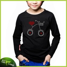 Boy's Cute Design T-shirt Lead Free Rhinestone Kids T-shirt