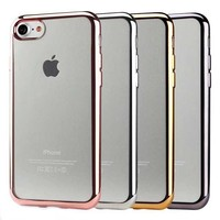 2016 New accessories Arrival Chrome Plating TPU Gel Soft Back Cover Case For iPhone 7 accessories