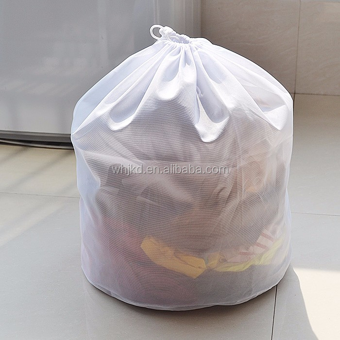Drawstring fine mesh laundry bag wash bag supporting large clothing
