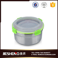 different size round container storage food with non-stick