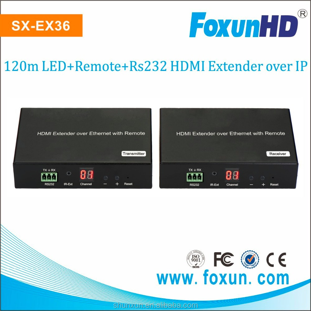 SX-EX36 H.264 encoder HDMI extender support LED, Remote, POE,RS232, group ID HDMI extender over IP