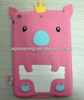 for ipad mini pink pig silicone case back cover