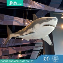 Amusement Park Waterproof Material Animatronic Shark Replica