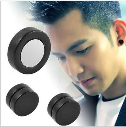 1 Dozen Mens Women Non Piercing Ear Stud Clip On Round Magnetic Earrings 6/8/10mm