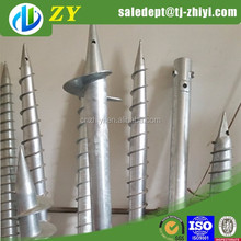 Hot dipped galvainzed spike Pointed Flag Poles Ground anchor
