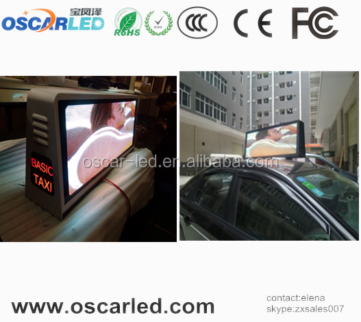 3G system waterproof video effects mobile video ads for taxi