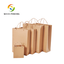 Print logo bread packaging brown kraft paper food bags