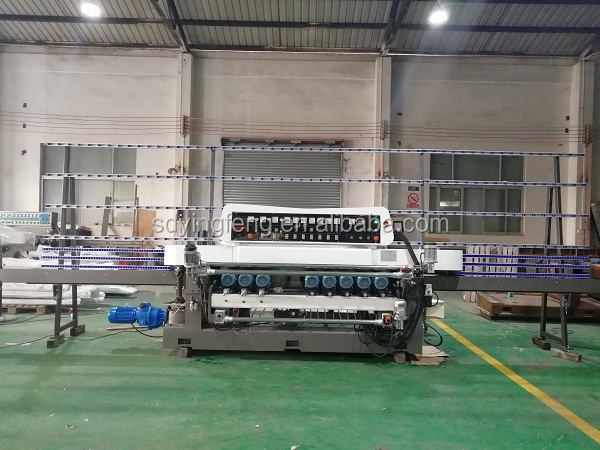 11Motors Mosaic Glass mirror straight line beveling edge and polish machine with CE
