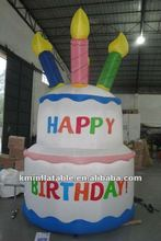 large inflatable happy birthday cake