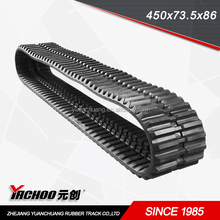 Construction Machinery Parts rubber track for vehicles (450*86*59SB)