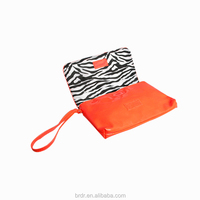 Fashion Orange All Name Brand PVC Clutch Bag for Young Women
