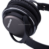 2015 BENWIS H600 over head headband wired headphones cable headset for laptop with mic