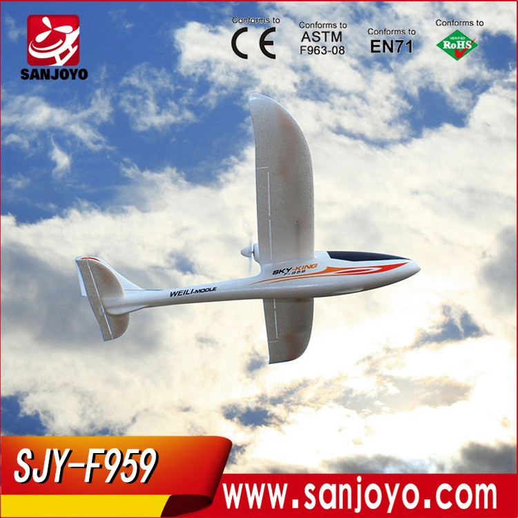 2015 steering-wheel Weili F959 EPO model three pass back fixed wing resistance gliding model AIRplane