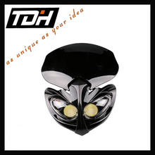 wholesale hot black motorcycle headlight universal for dirt bike