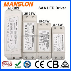 SAA approved xz-power LED light driver 12-60W constant current dimming poe led driver power supply