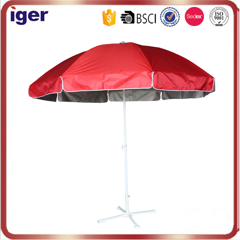 silver coating sun protect durable big red beach parasol canada umbrella wholesale