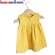 Summer 100% cotton baby party wear new design baby girls dress
