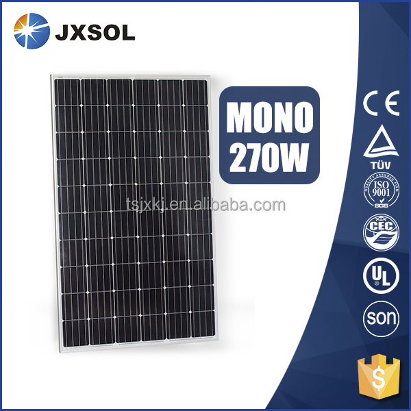 high efficiency pv module monocrystalline silicon 270w solar panel for home solar energy system