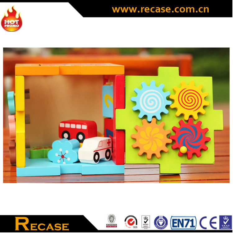 Teaching aid non-toxic infant montessori wooden toys Hide shape sorter,montessori materials