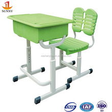 Middle school furniture desk and chair abs plastic furniture