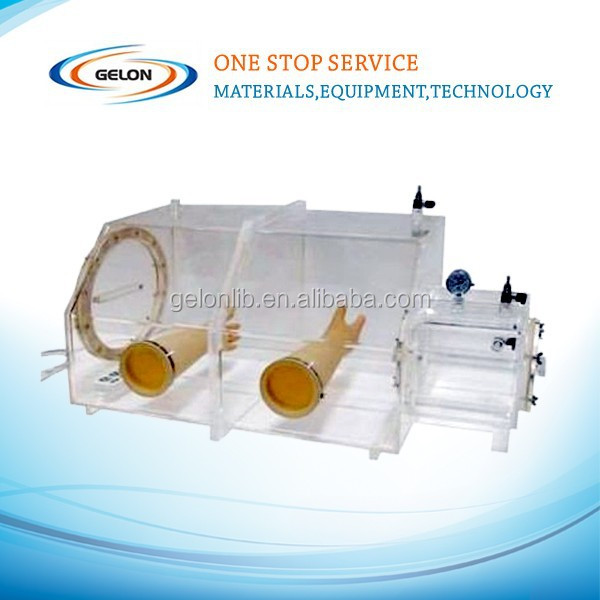 Glove box for lithium polymer battery electrolyte filling system