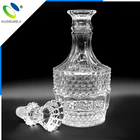 china famous brand personalized design mexican style 500ml empty glass liquor bottle