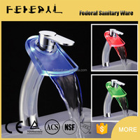 LB-A4H China manufacturer high end LED glass fancy fashion bathroom faucets