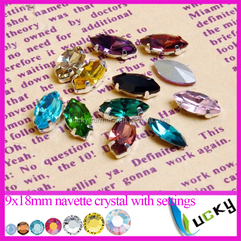 Top quality slim long horse eye all colors available 4x15mm crystal ab navette crystal rhinestones point back fancy shape