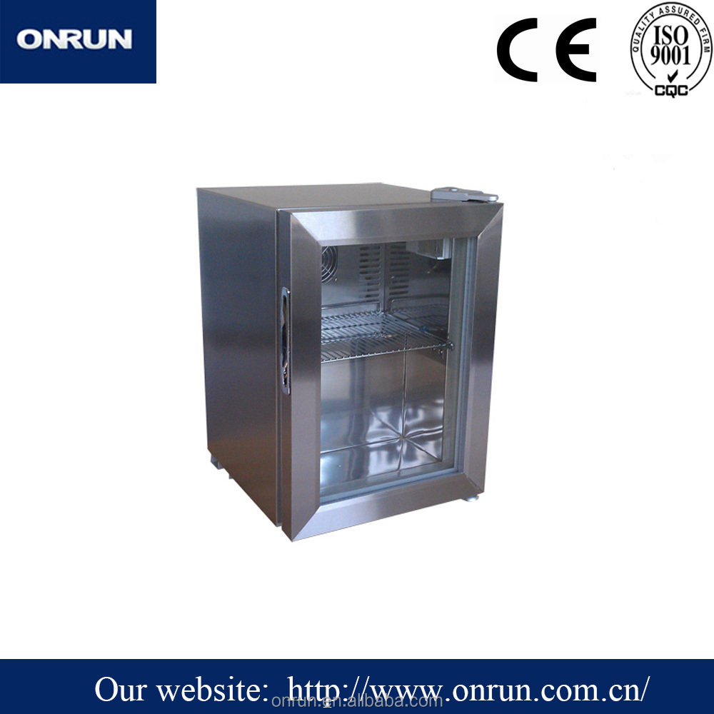 SC-20(SS)-R Stainless Steel Refrigerator/Counter Top Refrigerator/Glass Door Refrigerator