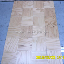 Natural color 230x230 mm square red oak wood flooring with best price