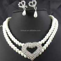 2014 Newest Fashion Pearl Necklace Crystal