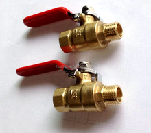 High quality 1/4 & 3/8 & 1/2 pneumatic cheap small mini brass ball valve for water air oil and gas brass ball valve factory