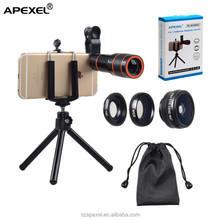 4 in 1 lens kit 0.63x wide angle 15x macro 198 degree fish eye 12x ultra zoom telephoto lens for samsung galaxy s3 s4