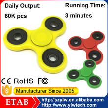 2017 New Trend Products Promotional Stress Reducer Plastic 4 Bearing 608 Hand Held Metal Hand Fidget Spinner