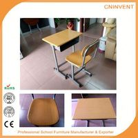 New selling custom design school kids study table and desk with many colors