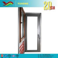 YH China supplier low price grill design frame used commercial glass entry doors