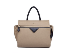 New arrival woman branded design genuine leather tote handbag