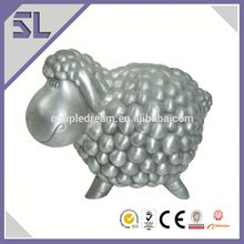Eco-friendly Material Wedding fund Money Pot Animal Shape Piggy Banks Silver Money Boxes for Christening
