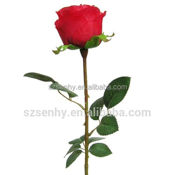 Selling Well Red Artificial Single Roses Flowers