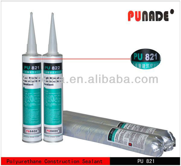 PU821 is one component polyurethane construction for construction joints concrete high temperature construction adhesive